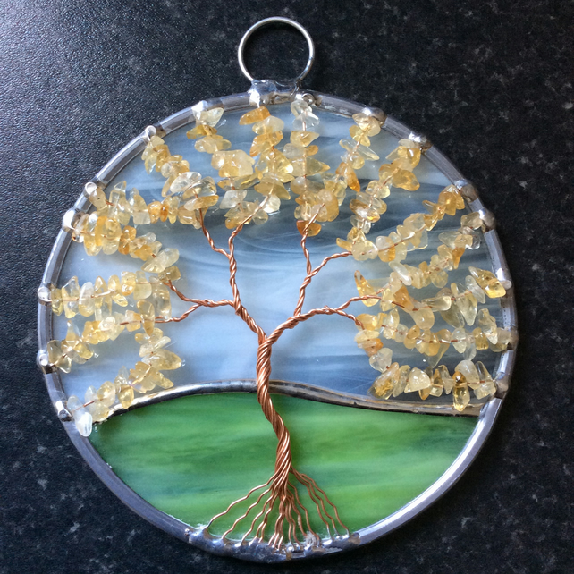 Citrine  tree of life  (0601)