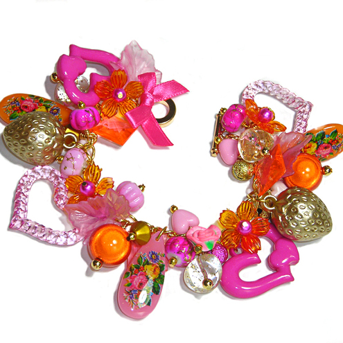 FRUIT SALAD Gorgeous Kitsch Charm Bracelet