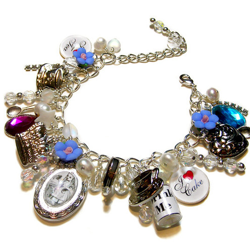 RESERVED FOR SAM ALICE IN WONDERLAND charm bracelet
