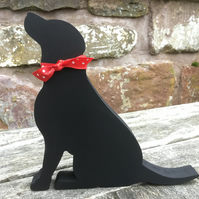 Wooden Black Labrador