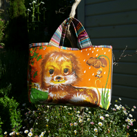 Vintage Fabric Tote Bags