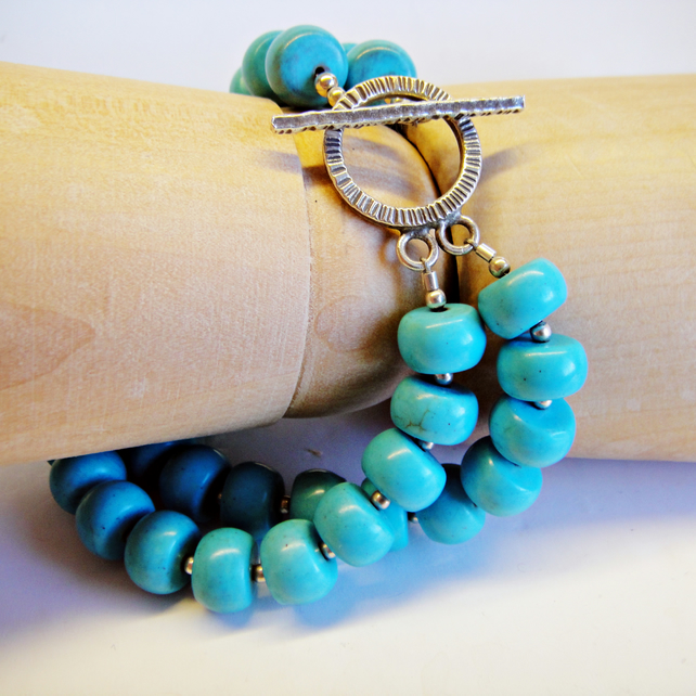 Turquoise Double String Bracelet