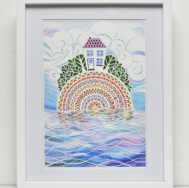 House on a Fairisle: A4 Giclee Print