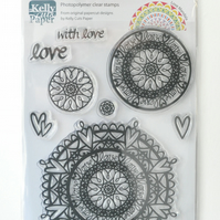 Love Mandala A5 Clear Stamps Set by Kelly Cuts Paper