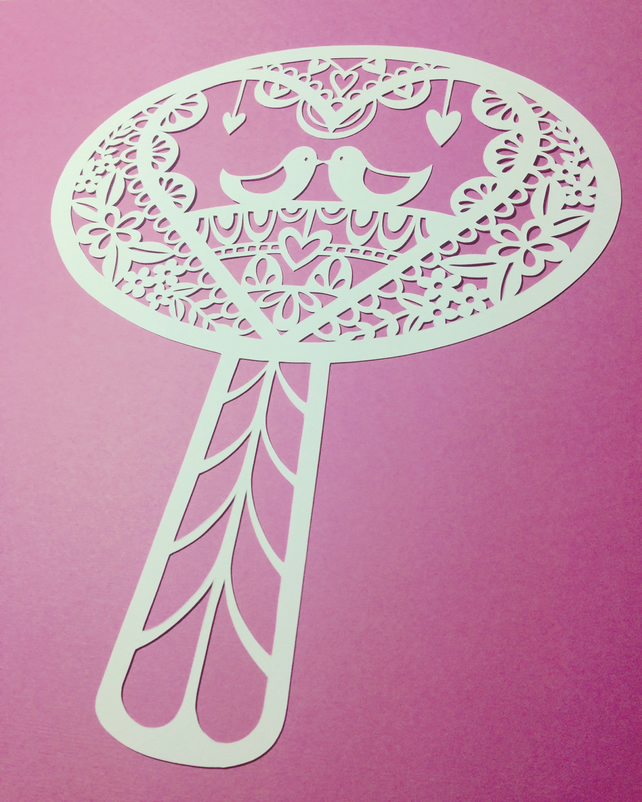 Folk Tree Digital Papercut Template