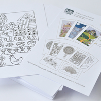 A6 Ready to Colour cards - pack of 50