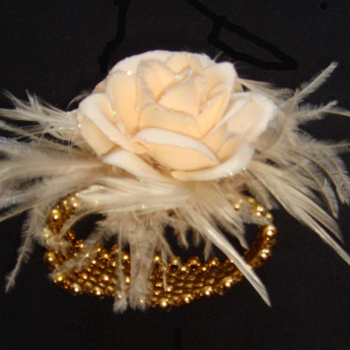 Wrist Corsage Champagne Roses Unique One Off Folksy