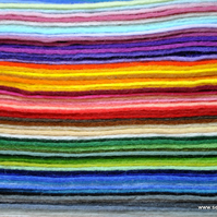 "FREE POSTING...65 4"" wool felt squares rainbow pack, sampler, craft, die cut compatible,65 4 inch wool felt supplies stack, bundle"