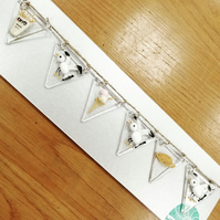 Seagull fused glass bunting