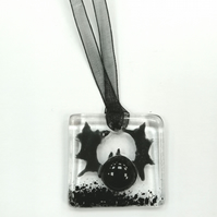Bat fused glass decoration