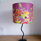 Hand painted silk lampshade - leaves
