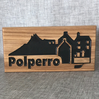 Polperro wooden plaque