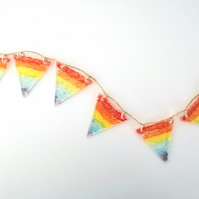 Rainbow of hope bunting