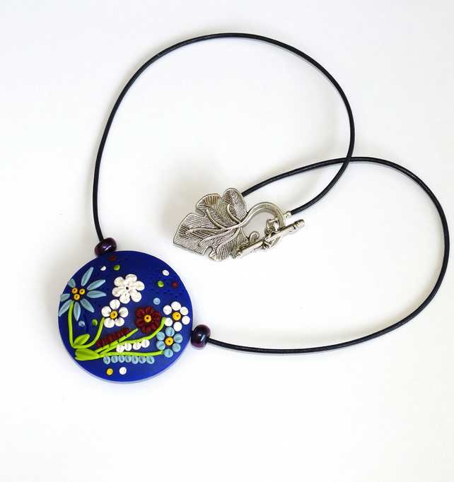 Midnight Flower Garden Pendant