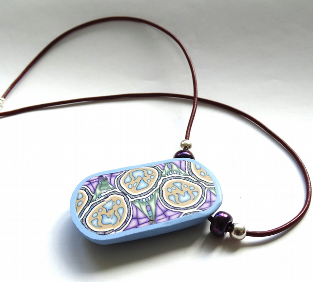 Arabesque Tile Pendant