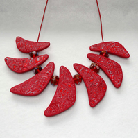 Ruby Curved Necklace