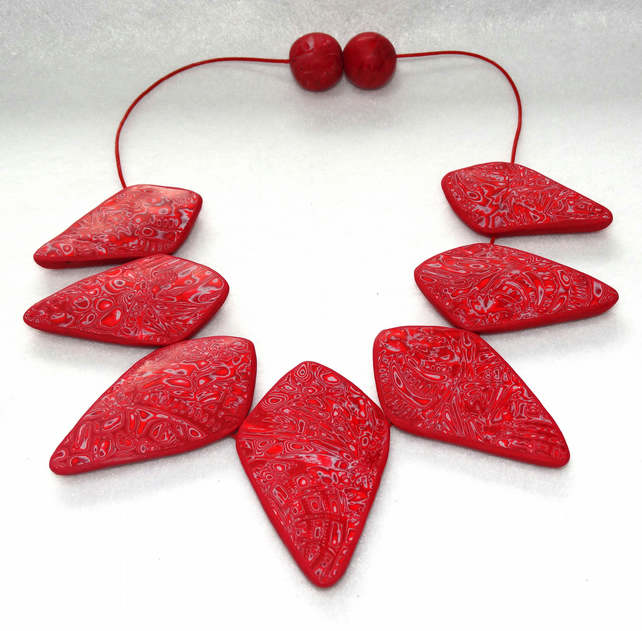 Ruby Diamond shape Necklace