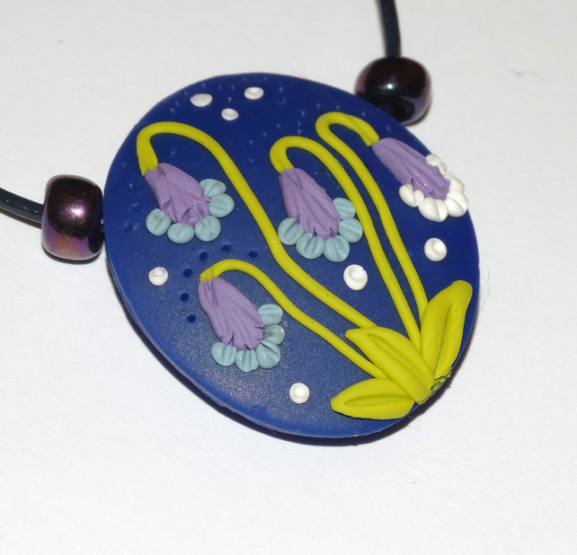 Midnight Flower Bells Pendant