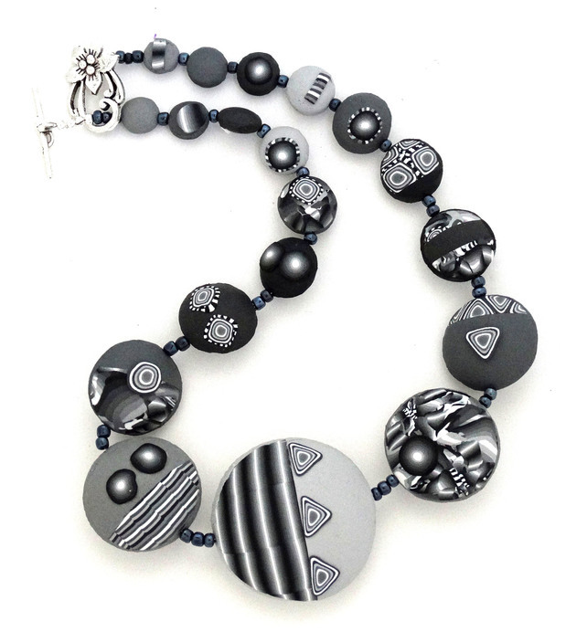 Black Abstract Necklace