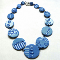 Blazing Blue Necklace