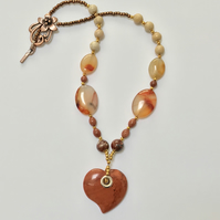 Jasper Valentine Necklace