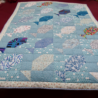 'Fishy' Cot Quilt or Throw