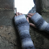 Arm warmers, fingerless gloves, extra long mittens, knitwear UK, gift for her