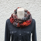 scarf knitted multicolour, knitwear UK, gift guide, womens neckwear, snood