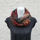 Snood, multicolour infinity scarf, knitwear UK, gift guide, womens neckwear