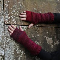womens Arm warmers, fingerless gloves, extra long mittens, gift for her