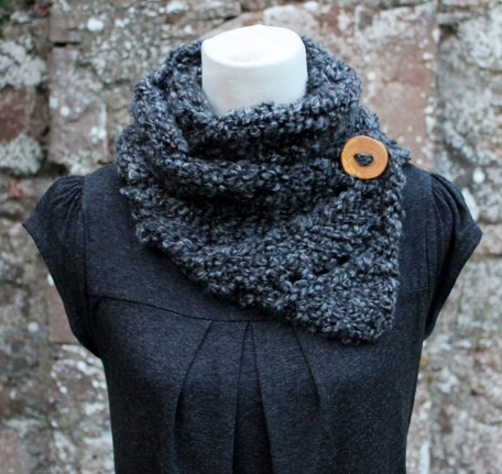 Womens gray knit scarf, gift guide for her