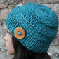Big softie hat in turquoise, chunky womens knitted beanie, gift guide for her