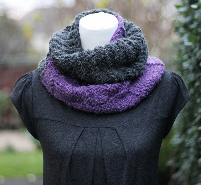 Knitted infinity scarf cowl snood, gift guide for her