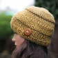 Hat chunky womens, mustard beanie, gift guide for her