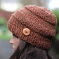 Hat chunky womens, bronze beanie, gift guide for her