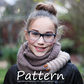 Knitting Pattern, Comfort infinity scarf