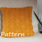 Knitting PATTERN, Butterscothc pillow cover