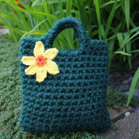 Little girls purse, flower bag, daffodils, springtime