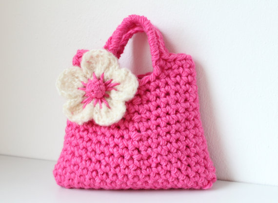 Little girls little purse, flower bag, handmade gifts for girls