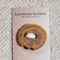 Button wooden handcrafted, natural timber