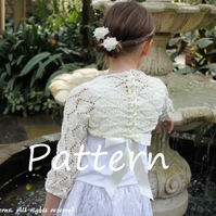 Pattern knitting, girls shrug, special occasion