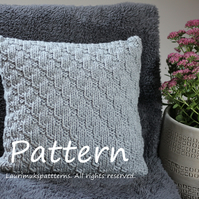 Knitting PATTERN, Softee pillow cover, home deco patterns