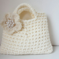 Little girls little purse, flower bag, handmade gifts for girls, weddings