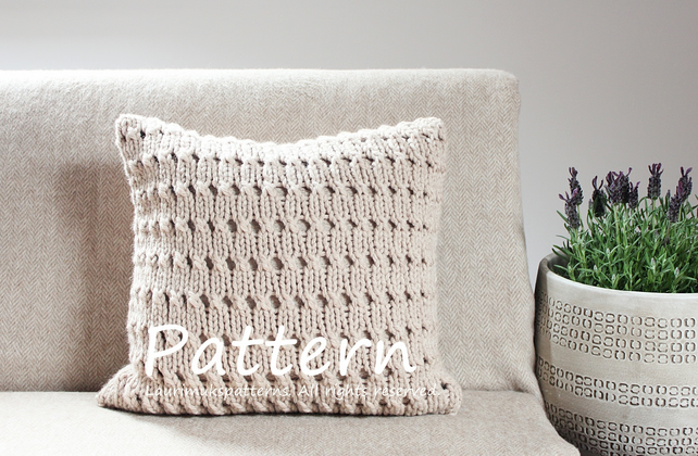 Knitting Pattern Hayfield Pillow Cover Home D Folksy