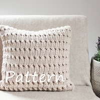 Knitting PATTERN, Hayfield pillow cover, home deco patterns, cushion cover