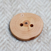 Button wooden, large, eco, reclaimed timber, all natural handcrafted buttons