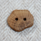 Button wooden large statement, reclaimed natural timber