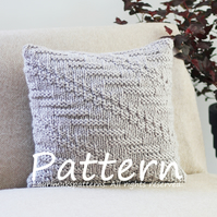 KNITTING PATTERN, Oatmeal pillow cover, cushion pattern, super chunky yarn