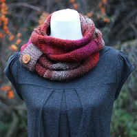 Scarf knitted, womens cowl, snood, infinity scarf, gift guide for her