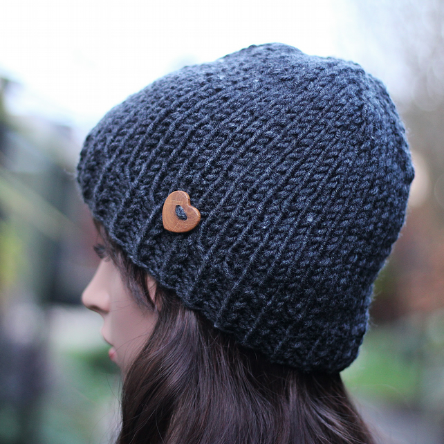Gift Fashion High Quality Accessories Hat Shaped Hair Clip Knitted Christmas